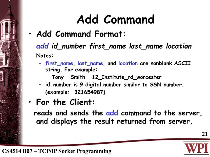 Add Command