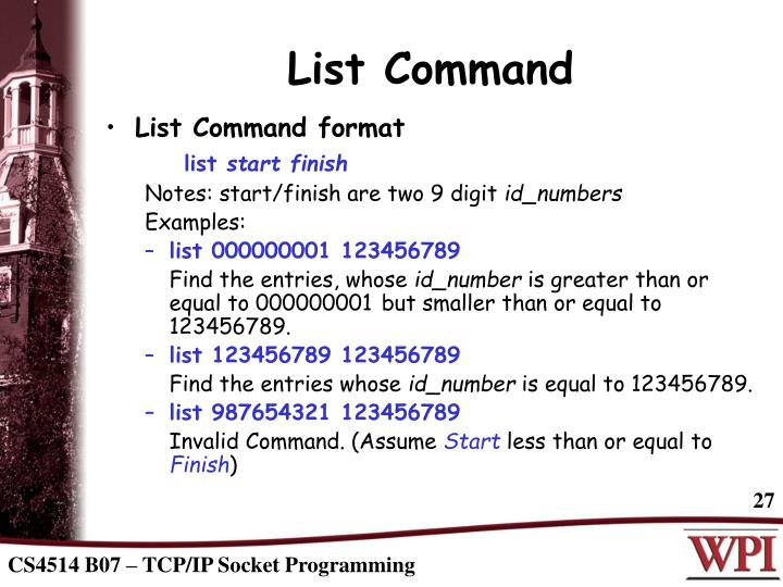 List Command