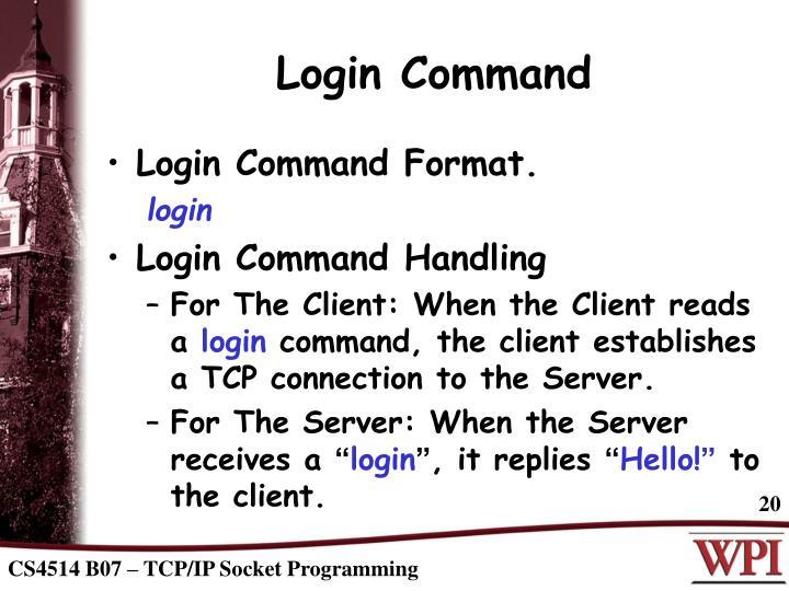 Login Command