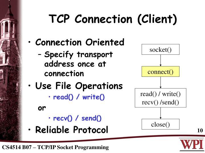TCP Connection (Client)