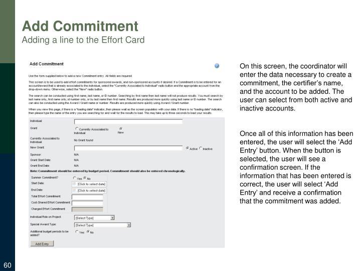 Add Commitment