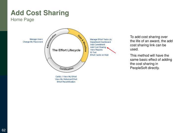 Add Cost Sharing