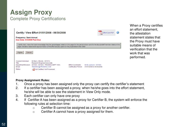 Assign Proxy