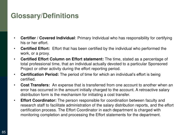 Glossary/Definitions