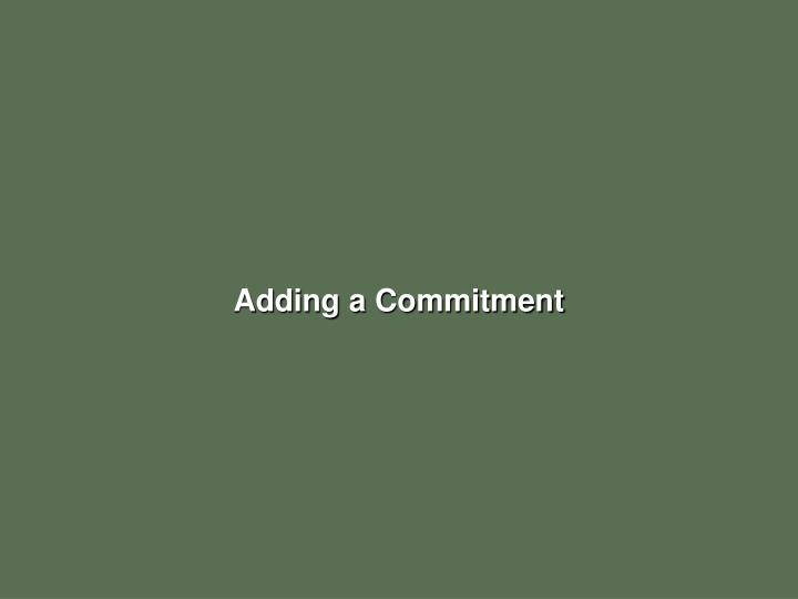 Adding a Commitment