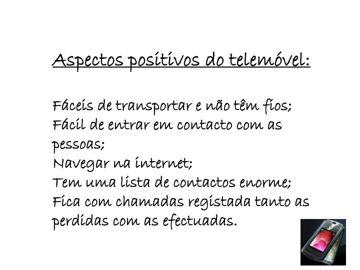 Aspectos positivos do