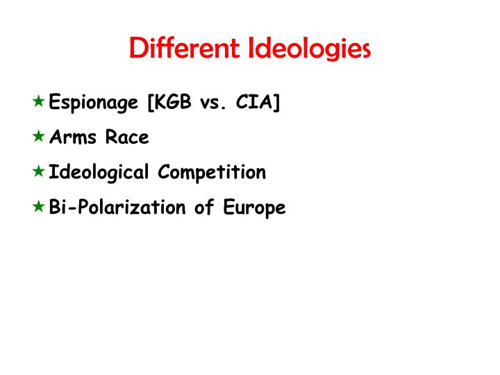 Different Ideologies