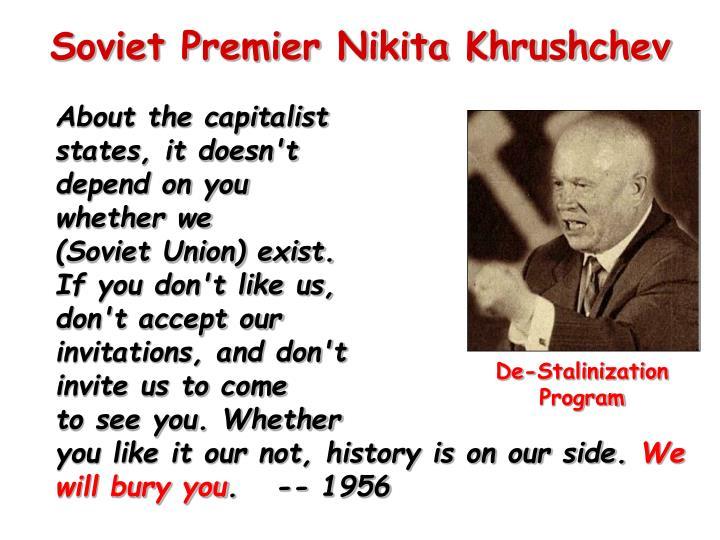 Soviet Premier Nikita Khrushchev