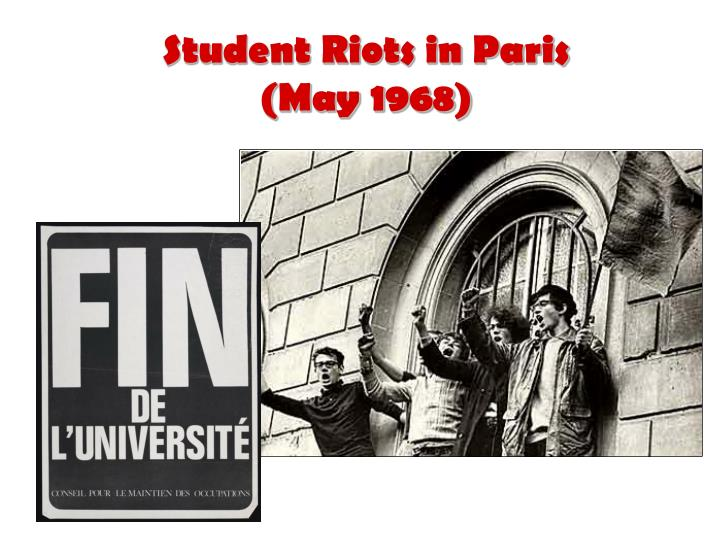 Student Riots in Paris