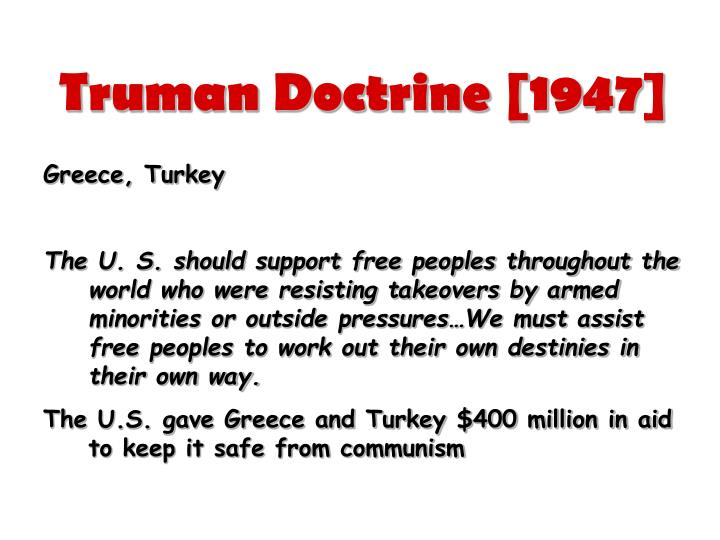 Truman Doctrine [1947]