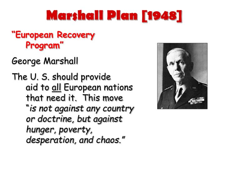 Marshall Plan [1948]