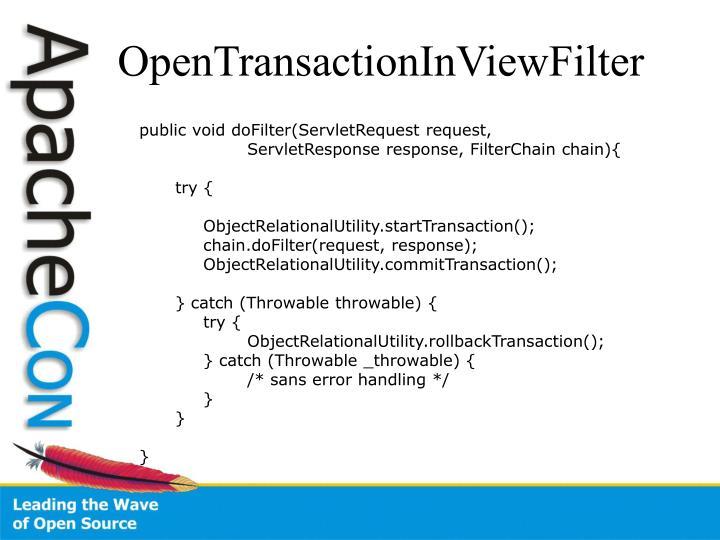 OpenTransactionInViewFilter