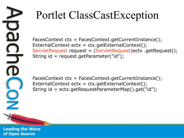 Portlet ClassCastException