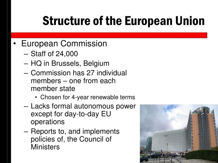 the structure of the european union That is a brief summary of the structure of the european union and its institutions  let us now have a look at how this behemoth functions.