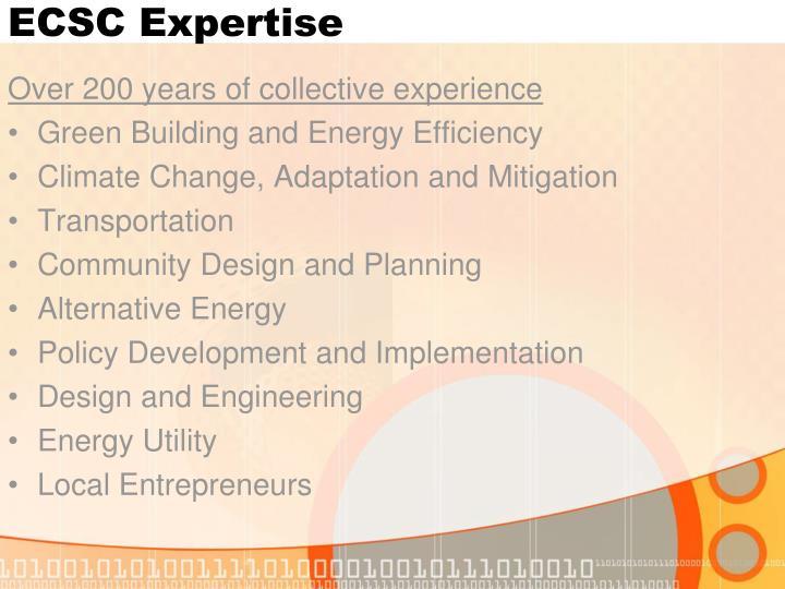 ECSC Expertise