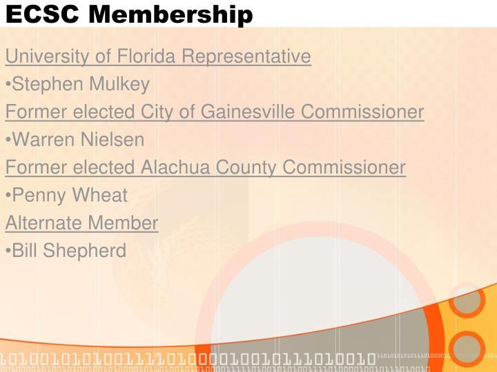 ECSC Membership
