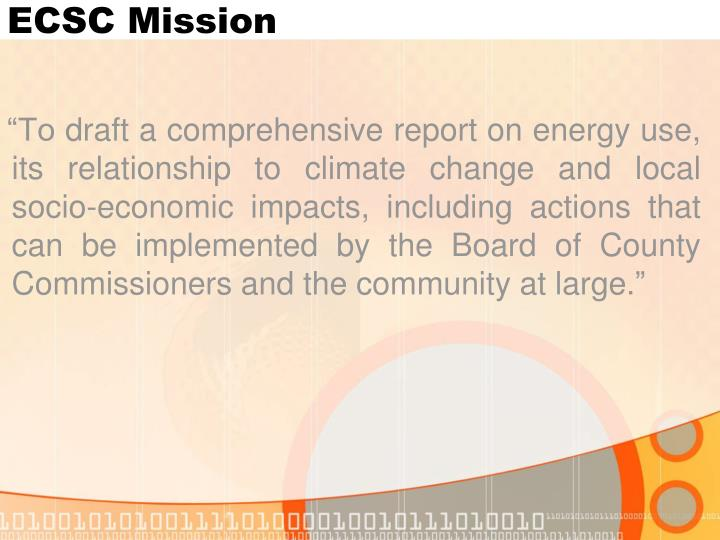 ECSC Mission