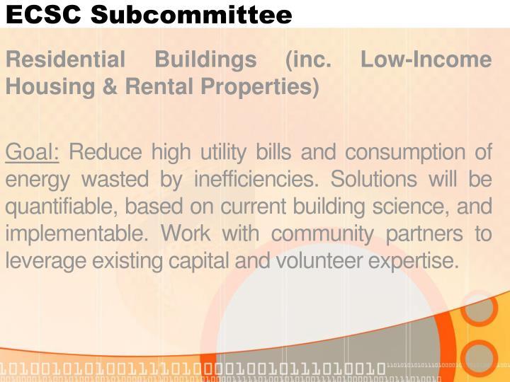 ECSC Subcommittee
