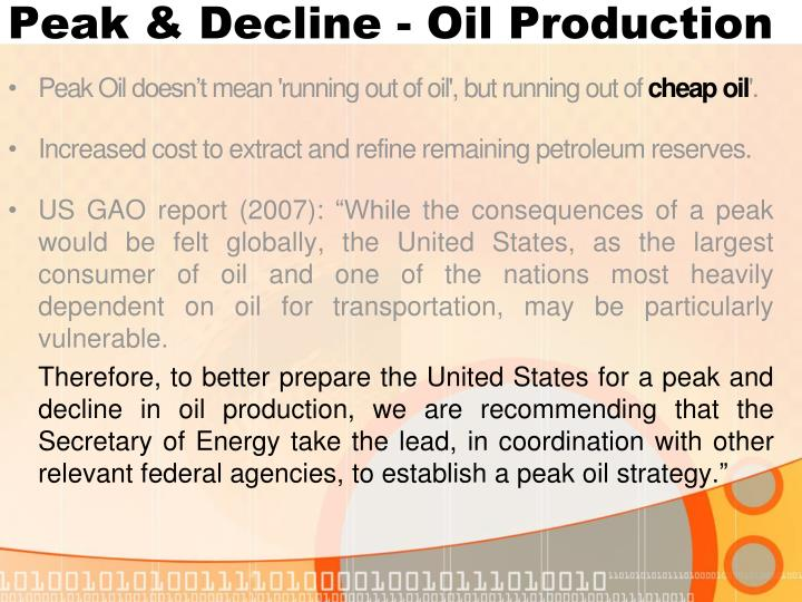 Peak & Decline - Oil Production