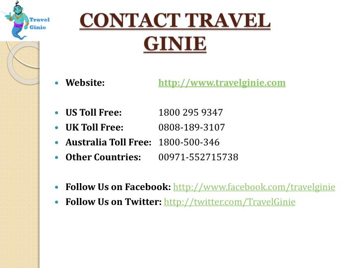 CONTACT TRAVEL GINIE