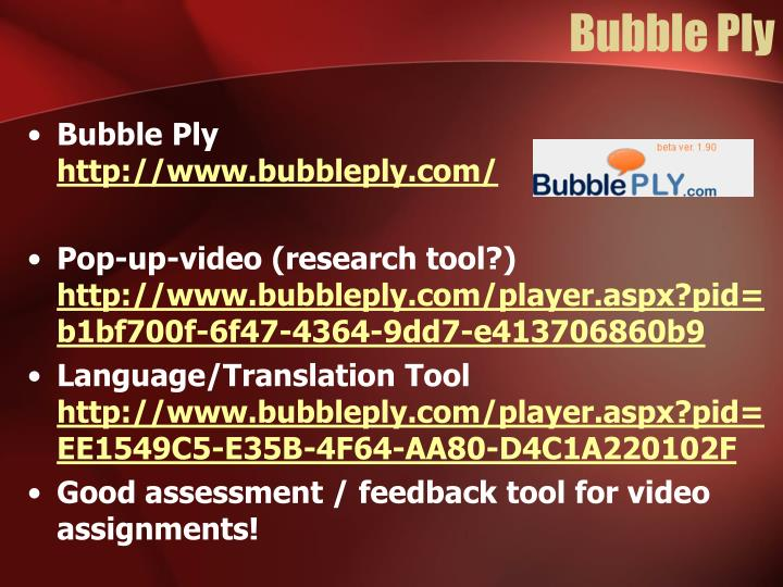 Bubble Ply