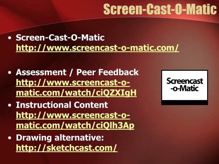Screen-Cast-O-Matic