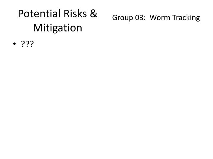 Potential Risks & Mitigation