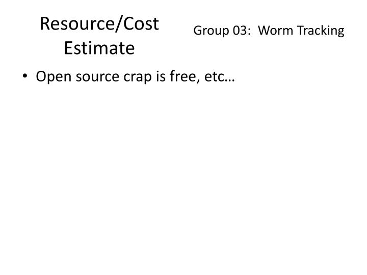 Resource/Cost Estimate