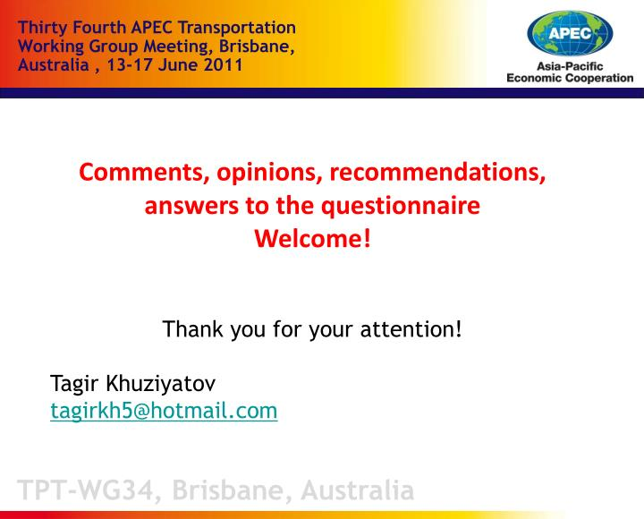 TPT-WG34, Brisbane, Australia