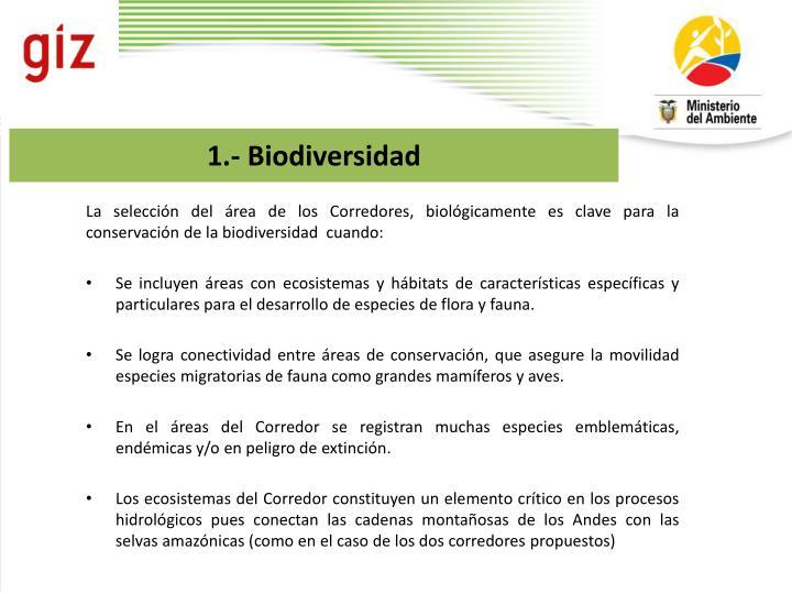 1.- Biodiversidad