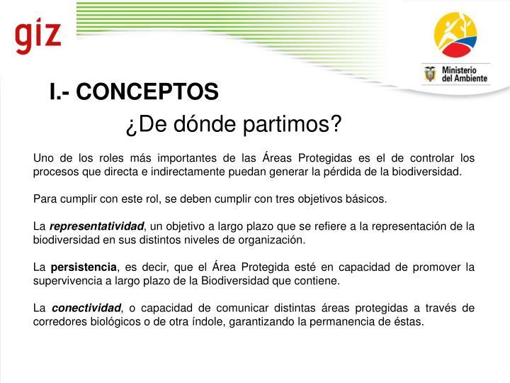 I.- CONCEPTOS