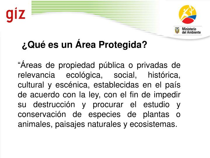 ¿Qué es un Área Protegida?