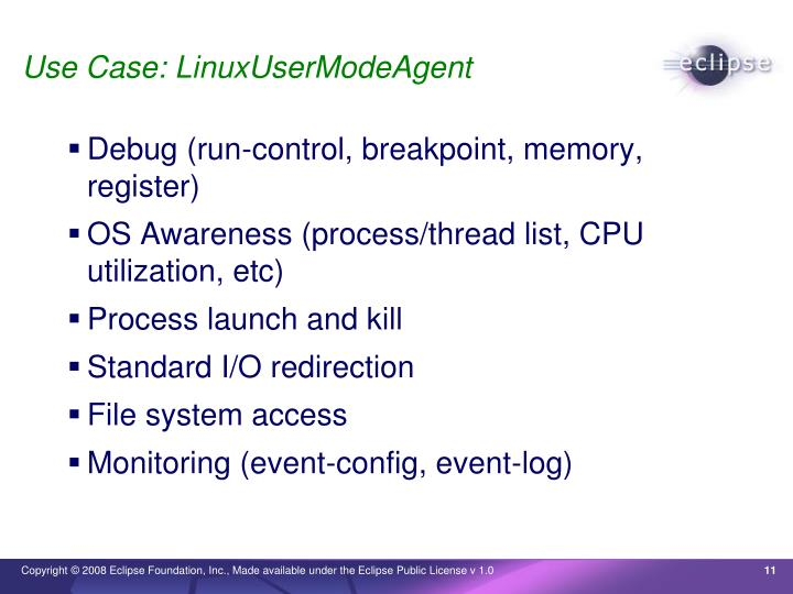 Use Case: LinuxUserModeAgent