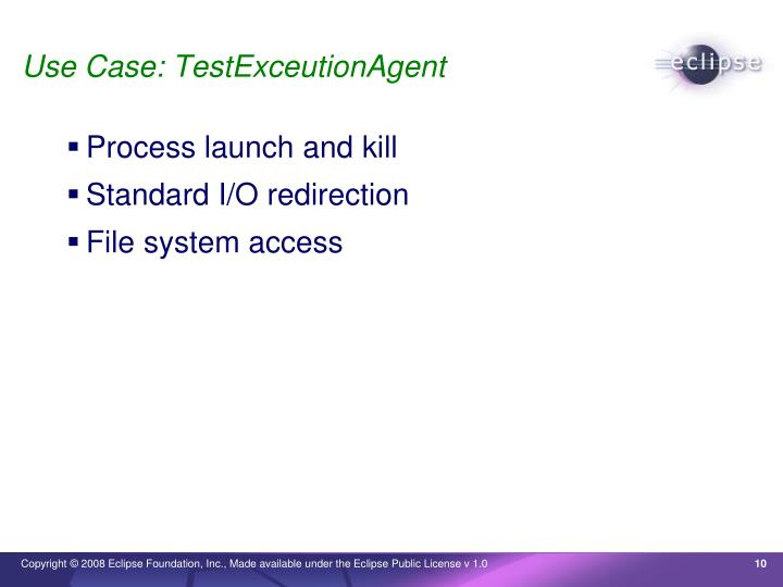 Use Case: TestExceutionAgent