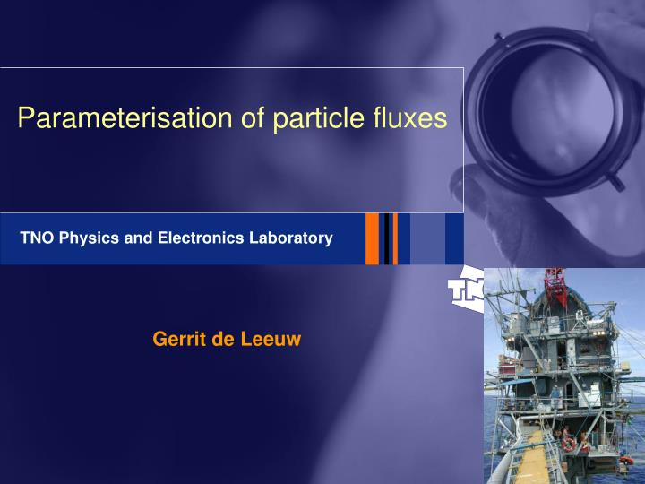 parameterisation of particle fluxes