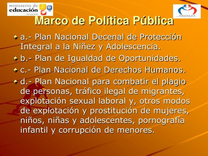 Marco de Política Pública