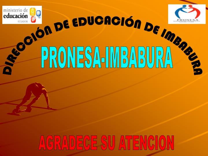 DIRECCIÓN DE EDUCACIÓN DE IMBABURA
