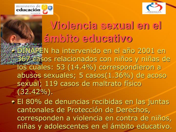 Violencia sexual en el ámbito educativo