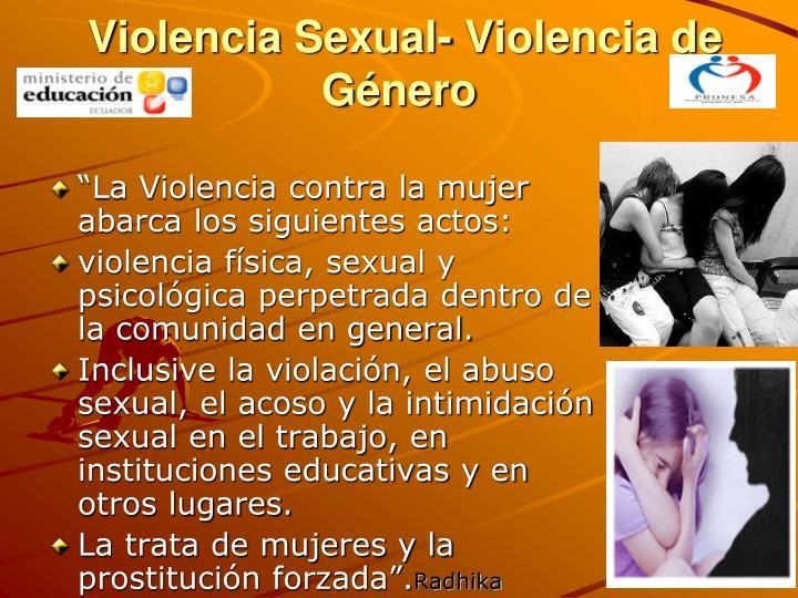 Violencia Sexual- Violencia de Género
