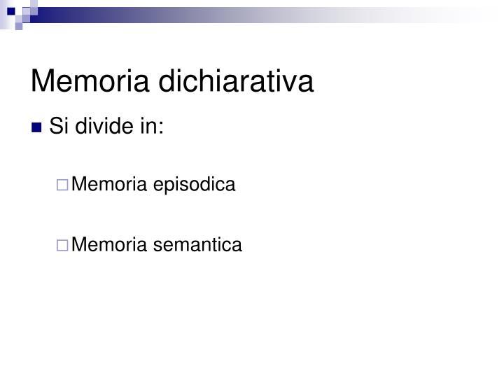Memoria dichiarativa