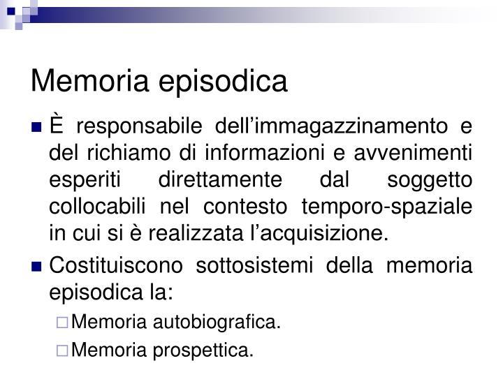 Memoria episodica