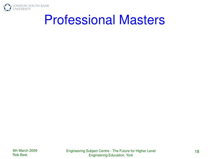 Professional Masters