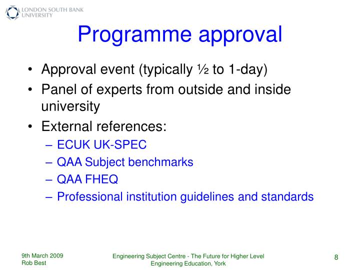 Approval event (typically