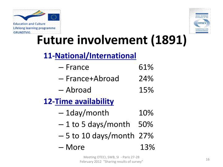 Future involvement (1891)