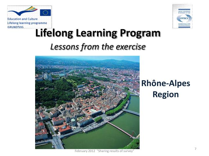Lifelong Learning Program