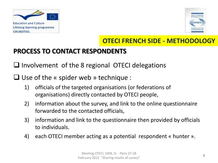 OTECI FRENCH SIDE - METHODOLOGY