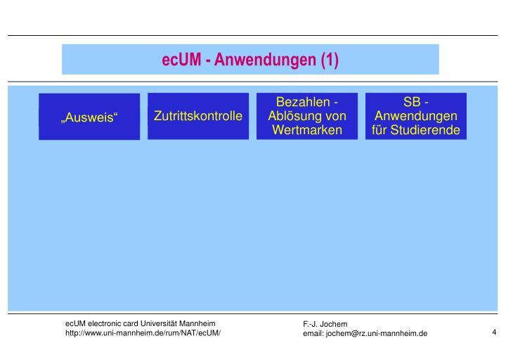 ecUM - Anwendungen (1)
