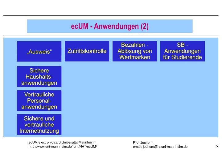 ecUM - Anwendungen (2)