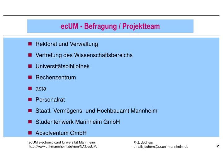 Rektorat und Verwaltung