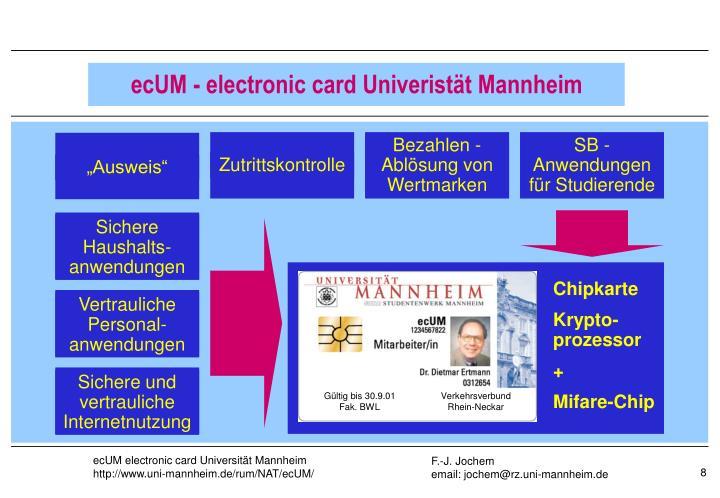 ecUM - electronic card Univeristät Mannheim